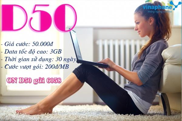 Hướng dẫn chi tiết cách đăng kí gói D50 Vinaphone  ưu đãi nhất