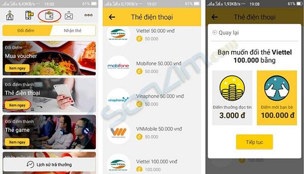 3 ứng dụng đổi thẻ cào điện thoại phổ biến hiện nay