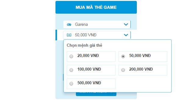Mách bạn trang web mua mã thẻ game giá rẻ