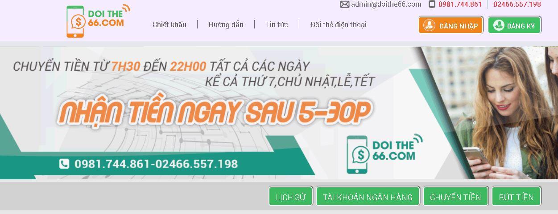 """""""Tất tần tật"""" về đổi thẻ cào trên DOITHE66.COM"""