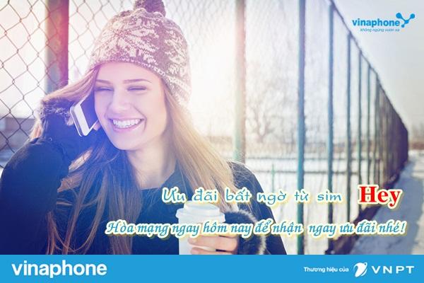 Hòa mạng sim HEY Vinaphone hưởng ưu đãi gọi nhóm, lướt FB miễn phí