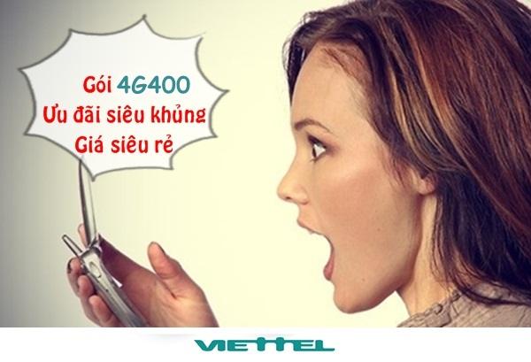 Đăng ký gói 4G400 Viettel – Nhận ngay data lên đến 20GB