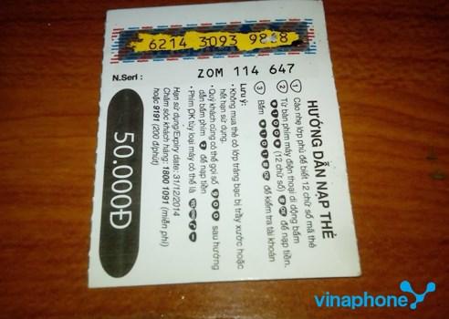 Chi tiết cách đổi thẻ cào Vinaphone khi bị rách đơn giản