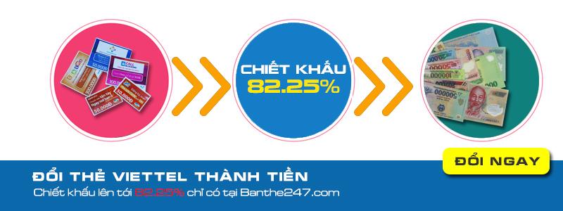 Hướng dẫn cách đổi thẻ cào ra tiền mặt tại banthe247.com
