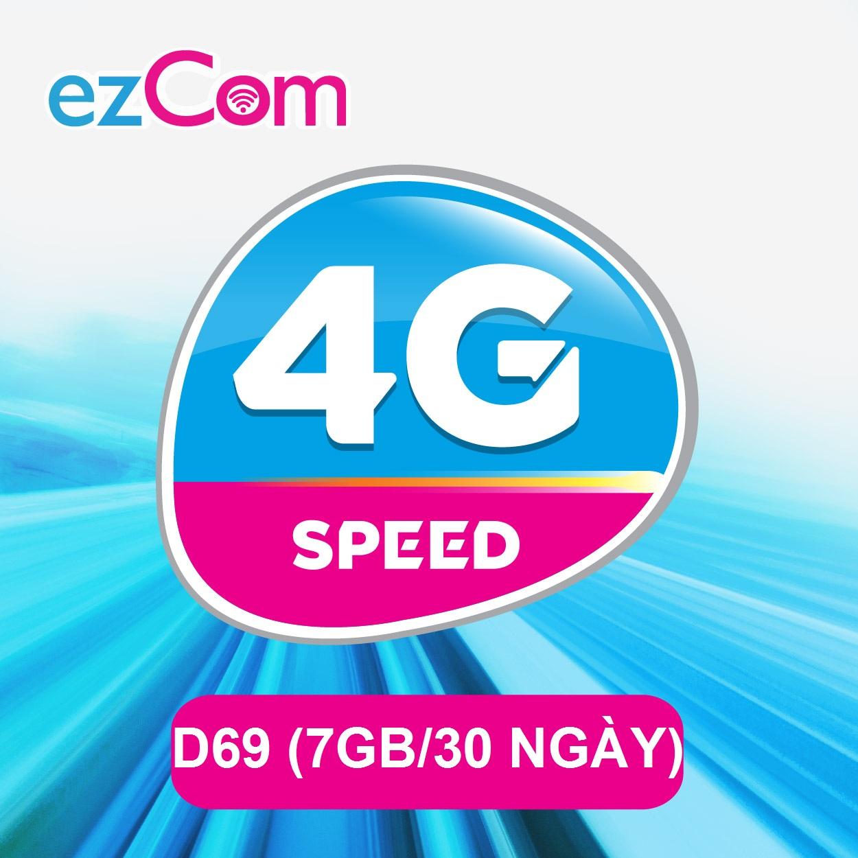 Đăng ký gói Ezcom D69 Vinaphone nhận ngay 7GB data