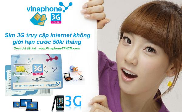 Những gói cước 3G vinaphone phù hợp nhất với thuê bao trả sau