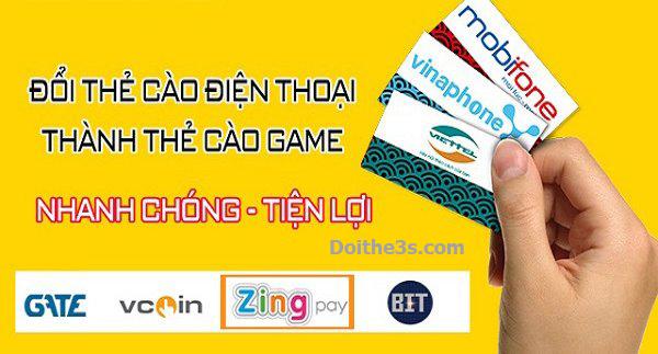 Hướng dẫn đổi thẻ điện thoại sang thẻ Game