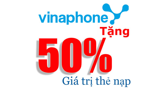 Khuyến mãi 50% Vinaphone khi nạp tiền vào TK Ezpay ngày 20/10/2017