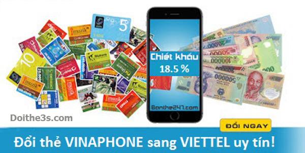 2 bước đổi thẻ Vinaphone sang Viettel nhanh nhất