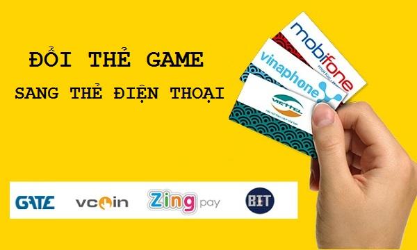 Cung cấp địa chỉ hỗ trợ dịch vụ đổi thẻ game sang thẻ điện thoại uy tín.