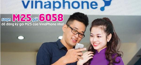 Đăng ký gói 3G M25 Vinaphone nhận ưu đãi lớn
