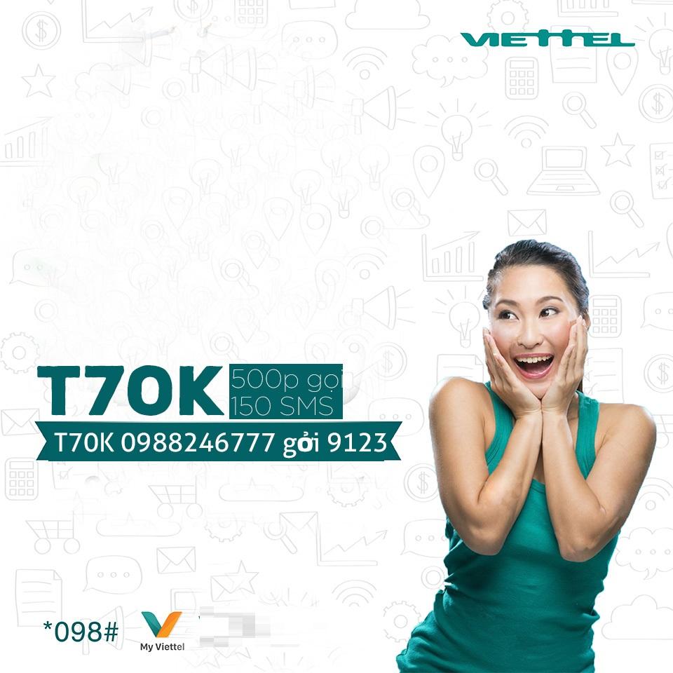 Gói cước T70K Viettel có gì hấp dẫn các thuê bao đến thế?