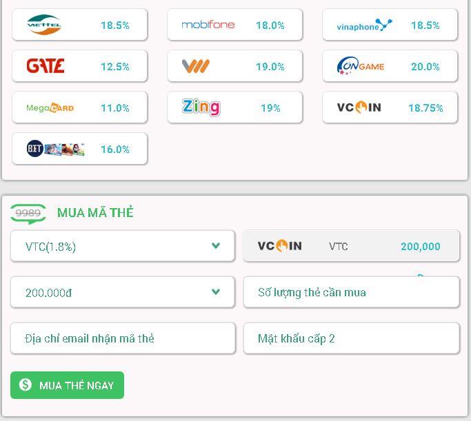 Hướng dẫn đổi thẻ Viettel sang thẻ VTC siêu nhanh, siêu đơn giản