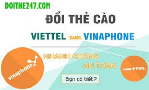 Đổi card viettel sang vina siêu dễ tại Doithe247.com