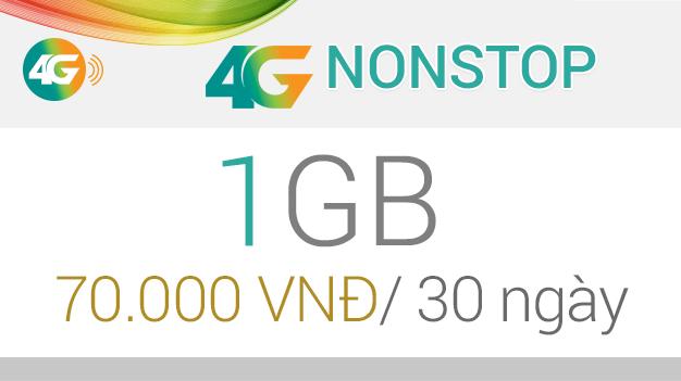 Thông tin mới nhất về gói cước 4G Nonstop Viettel