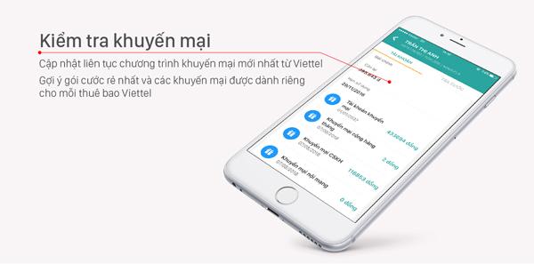 Kiểm tra khuyến mãi cho sim Dcom cực nhanh trên ứng dụng My Viettel