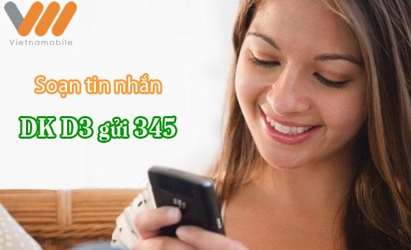Đăng ký gói 3G 1 ngày D3 Vietnamobile