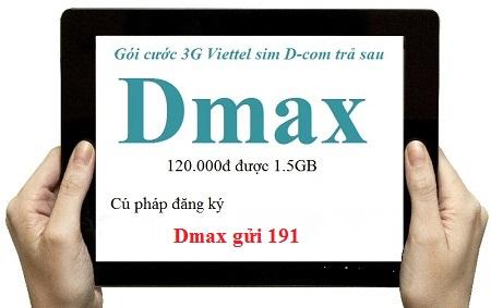 Tổng hợp gói 3G viettel dành cho Dcom trả sau