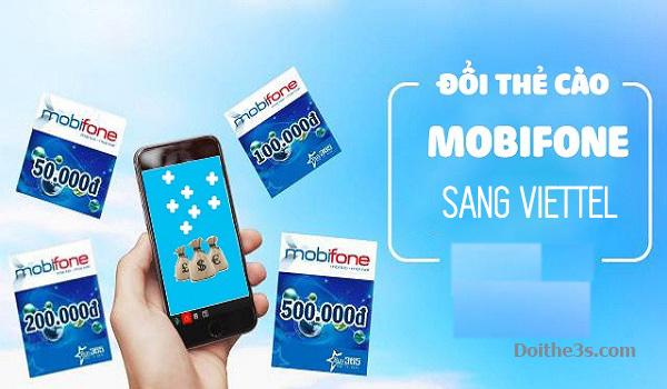 Cách đổi thẻ cào Mobi sang Viettel đơn giản nhất