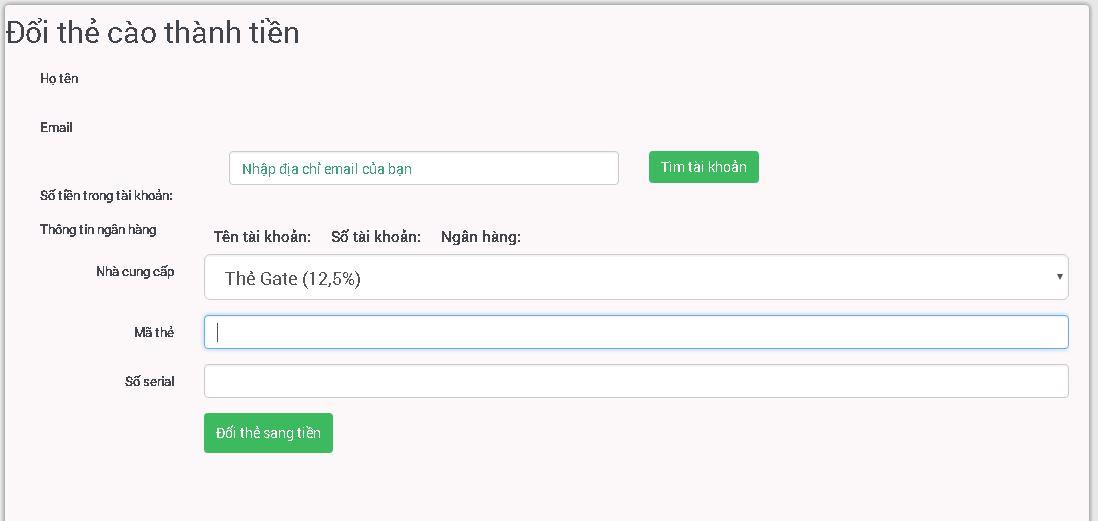 Hướng dẫn cách nạp thẻ Mobifone online trên DOITHE66.COM