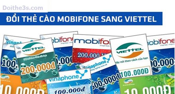 Đổi thẻ cào Mobi sang Viettel ở đâu chiết khấu thấp?