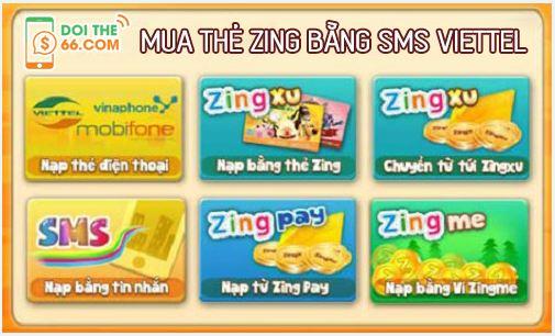 Hướng dẫn mua thẻ Zing bằng SMS Viettel
