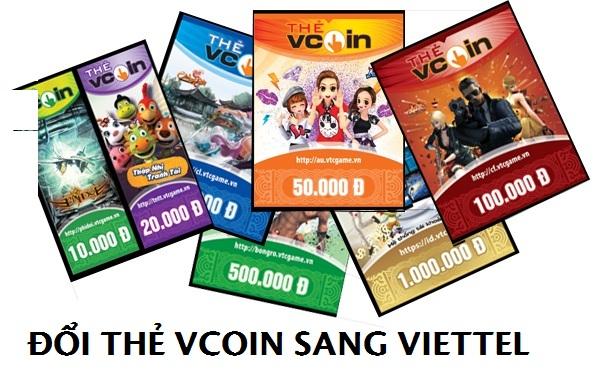 Chi tiết các bước của giao dịch đổi thẻ Vcoin sang Viettel mà thuê bao cần biết