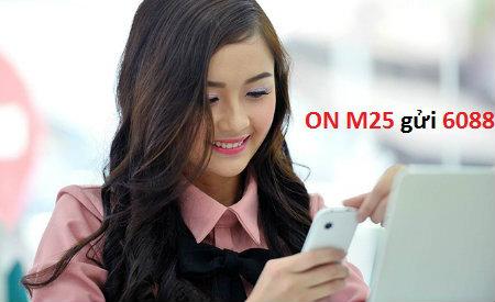 Đăng kí gói M25 Vinaphone với mức phí chỉ 25.000đ/ tháng