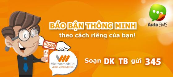 Hướng dẫn đăng ký dịch vụ báo bận AutoSMS Vietnamobile