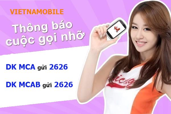 Cách đăng ký dịch vụ báo cuộc gọi nhỡ MCA Vietnamobile nhanh nhất