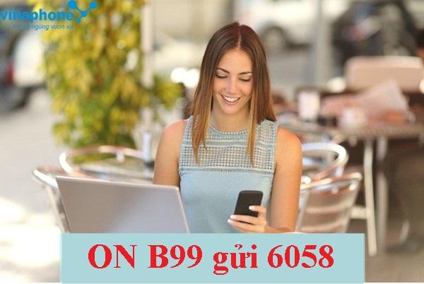 Đăng ký nhanh gói cước B99 Vinaphone tích hợp 3 ưu đãi bất ngờ!