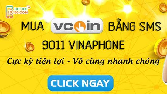 Cách mua thẻ Vcoin bằng SMS Vinaphone thần tốc