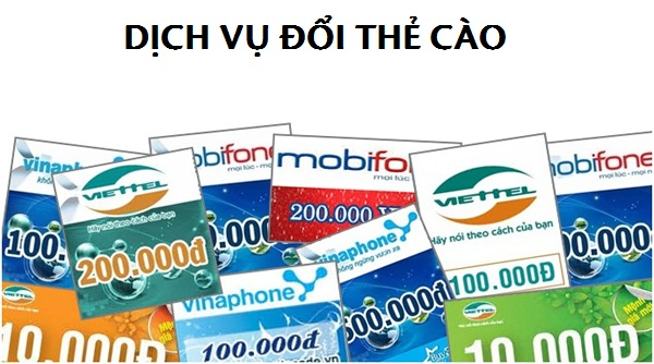 Địa chỉ uy tín cung cấp dịch vụ đổi thẻ cào trên thị trường hiện nay