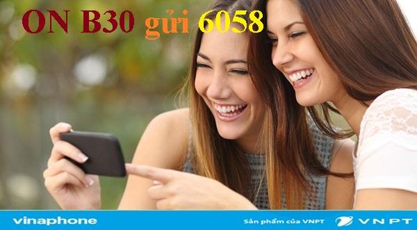 Nhanh tay đăng ký gói cước B30 Vinaphone 3 trong 1