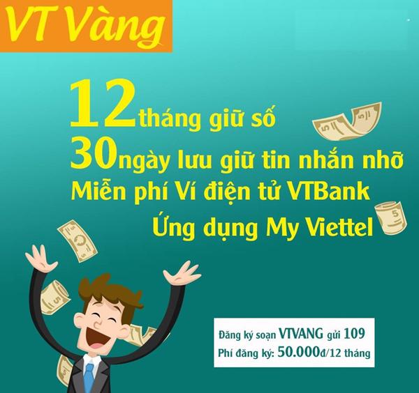 Không bao giờ lo mất số khi đăng ký gói VT Vàng Viettel