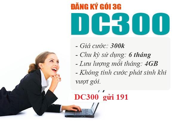 Đăng ký gói DC300 viettel để sử dụng Internet tẹt ga