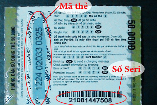 Những điều bạn chưa biết về số seri trên thẻ cào Viettel