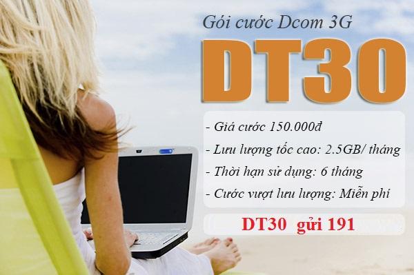 Đăng ký gói DT30 Viettel thoải mái sử dụng Internet 6 tháng