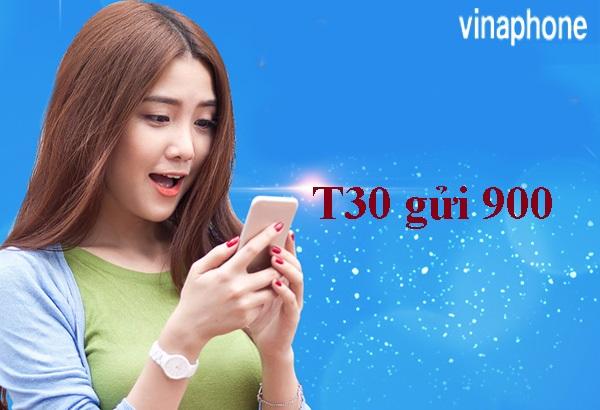 Có ngay 300k khi đăng ký gói cước T30 Vinaphone