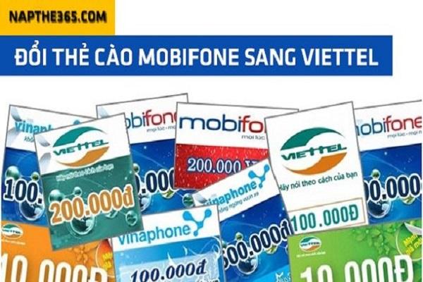 Dịch vụ đổi card mobi sang viettel siêu tiện ích nhất