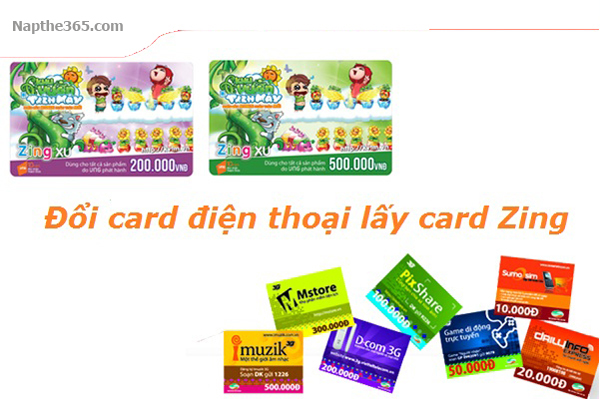 Hướng dẫn đổi card điện thoại lấy thẻ Zing chiết khấu thấp
