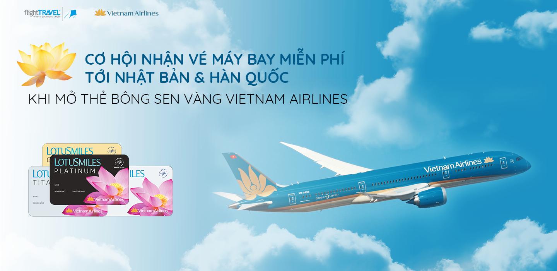 Những ưu đãi từ chương trình bông sen vàng của VietNam Airliens