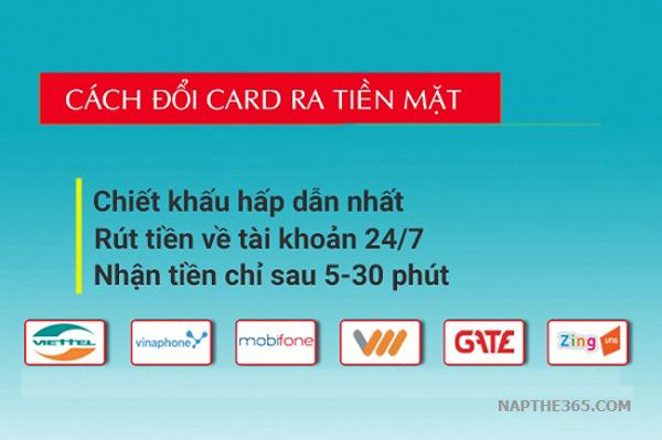 Giúp bạn cách đổi card ra tiền mặt cực nhanh