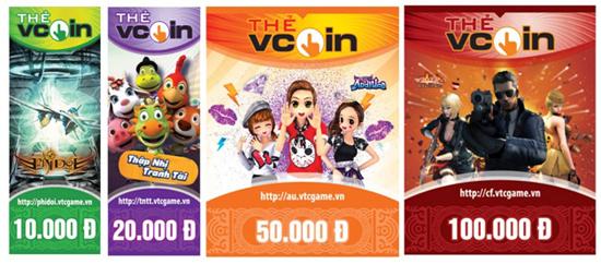 Mua thẻ game Vcoin bằng tài khoản sim Vinaphone