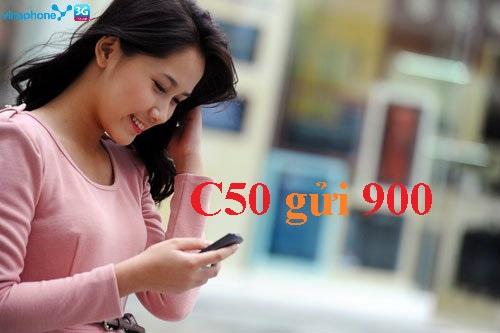 Sở hữu ngay gói cước C50 Vinaphone với 50 phút + 50SMS