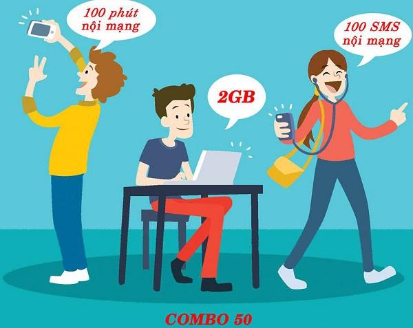 Đăng ký gói COMBO50 Vinaphone nhận ngay ưu đãi cực khủng