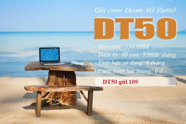 Hướng dẫn cách đăng kí gói DT50 viettel nhận ngay ưu đãi lớn