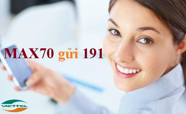 Hướng dẫn sử dụng gói cước Max70 Viettel sở hữu 1,3Gb