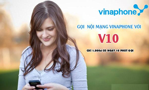 Chỉ 1k/ngày đăng ký gói cước V10 Vinaphone ưu đãi 10 phút miễn phí