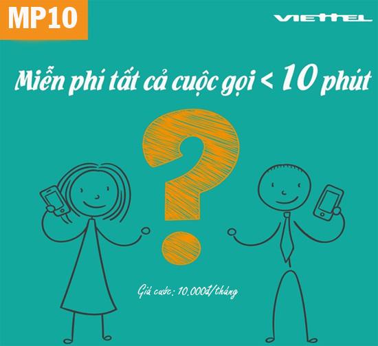 Đăng ký gói MP10 Viettel gọi thoại nội mạng tẹt ga